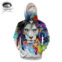 lion king hoodies sweatshirt 2021 - King of the lion by Pixie cold Art 3D Zipper Hoodies Men Sweatshirts Brand Tracksuits Casual Streetwear Animal Hoodie ZOOTOP B