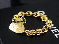 Wholesale resin shapes beads for sale - Group buy linlin Celebrity design Silverware Gold Chain bracelet Women Letter Heart shaped Clover Bracelets Jewelry With dust bag Box