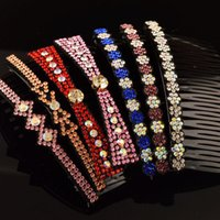 Wholesale accessories jewelry store online - Valentine s Day Gift Hair Jewelry Stores Rhinestone Hair Combs Hair Accessories for Women Girls Korean Hairstyles Mix Headpieces