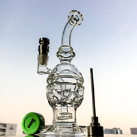 Wholesale glass faberge egg dab rig for sale - Group buy Glass Bong Fab Egg Bongs With Titanium Nail and Cap Showerhead Perc Water Pipes Recycler Dab Oil Rigs Faberge Egg Water Pipe MFE01