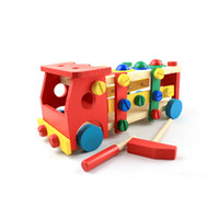 Wholesale Disassembly Tools Kit - Education Wooden Toy Puzzle Knockdown Car DIY Changeable Nut Combination TOOL Kit Disassembly Worktable Kids Intelligence Toys 19oya Z