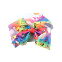 Wholesale children style accessories online - 17 styles jojo baby girls hair barrettes unicorn stars printed rainbow color new style children hair accessories kids christmas gifts