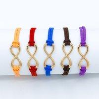 nummer 12 charme großhandel-12 Farben Doppel Leder Woven Chains Glückszahl