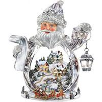 marcos digitales rosa al por mayor-Diamante bordado Santa Claus Navidad pintura diamante bricolaje kit de punto de cruz resina redonda completa mosaico de diamantes decoración del hogar yx4033