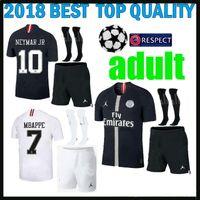 campeones kits de liga al por mayor-Kit para adultos 18 19g. Liga de campeones Jersey de fútbol Paris mbappe negro 2018 2019 maillot de foot CAVANI PRE-MATCH para hombres.
