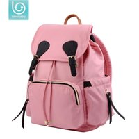 большие розовые подгузники оптовых-Lekebaby Large capacity Mom Maternity Bag Stroller Diaper Nappy Nursing Bag Travel Backpack Designer organizer Baby bottle pink