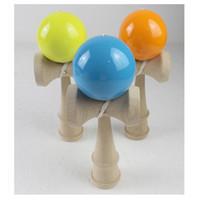 japanisches holzspielzeug großhandel-Neuheit 12 cm Kid Ball Japanische Beiläufige Traditionelle Jonglierspiel Holz Hand Augenbalance Fähigkeit Pädagogische Hölzerne Neuheit Spielzeug Einfarbig