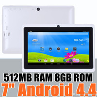 Wholesale 50X inch Capacitive Allwinner A33 Quad Core Android dual camera Tablet PC GB MB WiFi EPAD Youtube Facebook Google A PB
