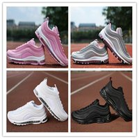 Wholesale Max Edition - New Maxes 97 Mens Running Shoes Cushion Men OG Silver white black pink Anniversary Edition Sneakers Man Maxes Sport Athletic Sports Traine