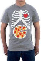 ingrosso pizza migliore-Best Sell Skeleton Pizza XRay Ribcage - Idea regalo per amante della pizza T-Shirt Divertente regalo Halloween Pre-Cotton Abbigliamento 100% cotone