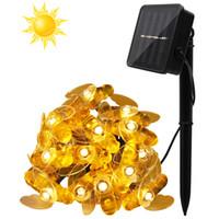 ingrosso luci casa solare indoor-21ft Solar String Lights 30 LED Honey Bee Shape Solar Powered Fairy Lights per la casa Indoor Outdoor Garden Fence Summer Decoratio