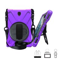 Wholesale galaxy s4 case for sale – best 360 Degree Rotation Silicone Hybrid Case with Shoulder Strap for Samsung Galaxy Tab S4 T830 T835 T837 Tablet
