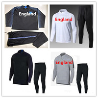 Wholesale Tracksuits Jacket Pants - ENGLAND tracksuit 2018 World Cup soccer jacket ROONEY SWEATER soccer chandal football tracksuit adult training suit skinny pants Sports