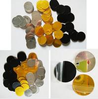 espelho redondo venda por atacado-100 unidades / pacote 2 cm 3D Diy Acrílico Espelho Adesivos de Parede de Forma Redonda Adesivos Decalque Mosaico Efeito de Espelho Sala de estar Decoração de Casa