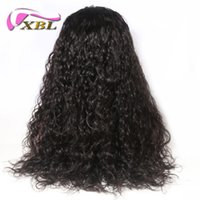 full lace wigs under 2018 - XBL Ocean Wave Hair Wig Body Wave Front Lace Human Hair Wig Brazilian Virgin Human Hair Wig
