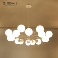 Wholesale lighting glass globe for sale - Group buy LED creative pendant light north Europe Globes glass pendant lighting blown glass chandelier LED lighting fixture