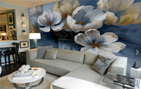 Wholesale Traditional Chinese Painting Flowers - Retro Painting Poppy Flower Wallpaper HD Photo Mural for TV Background Bedroom Wall Decor Vintage Wallpapers murales de pared 3d