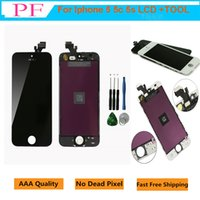 Wholesale iphone 5c screen parts online - 1 Piece Grade A LCD Display For iPhone S C Touch Screen Digitizer Full Assembly Replacement Repair Parts With Repair Tool Free