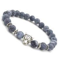 europa-perlen-art und weisearmband großhandel-Europa und Amerika Modeschmuck 8 MM Schwarz Verwitterte Healing Balance Perlen Yoga Armband Unisex Zubehör