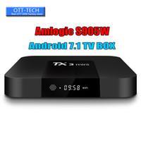 ingrosso la migliore casella tv mxq-Amlogic S905W TV Box TX3 Mini 1GB 8GB Miglior Box TV per Internet Android 7.1 migliore di MXQ PRO Supporto TV Box X96 4K H.265 1080P