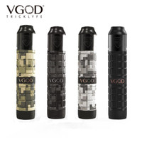Wholesale vgod atomizer rda resale online - VGOD Pro Mech Kit ProMech Mechanical Box Mod ml Elite RDA Atomizer Unique CNC Machines Authentic Electronic Cigarettes Kits