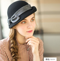 1820914aa6858 Womens hat berets 2018 new British style wool beret fashion bucket hat  winter hats for women high quality beret