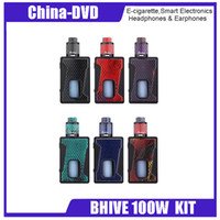 Wholesale food colouring colours - Original Aleader BHIVE 100W KIT Box Shape 7ml PET Food Grade Bhive TC box mod Electronic Cigarette Kit 18650 E-cigarette Kits