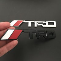 Wholesale decal car trd - 3D Metal TRD Auto Car TRD Badge Emblem Decal Sticker For TOYOTA CAMRY COROLLA YARIS PURIS