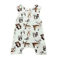 eule baby kleidung großhandel-Neugeborenes Baby Mädchen Tier ärmellose Strampler Overall Sommer Casual Pyjamas Kleidung Outfitts Eule Igel Baby Kleidung Kleinkind 0-24M