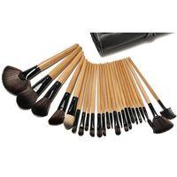 Wholesale 24pcs makeup brush set resale online - 2018 hot item Makeup Brushes Set Portable Full Cosmetic Make up Brushes Tool Foundation Eyeshadow Lip brush with Bag