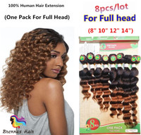 human hair pack Australia - New Style Brazilian Natural Human Unprocessed Hair 8pcs pack Sew In Extensions DEEP WAVE Brazilian Hair BODY wave