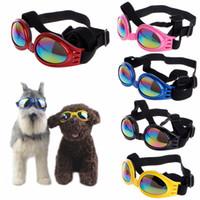 dog sunglasses оптовых-Мода лето Pet собака кошка складные очки УФ солнцезащитные очки защита глаз носить с ремешком товары для животных 6 Цвет