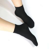 beyaz çorap bayan toptan satış-10 pair Kadın Polyester Siyah Çorap kadın Uzun Çorap Beyaz Kızlar Bayanlar Için Unisex Termal 4 Sezon Için Baskılı Çorap Sokken