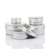 ingrosso chiodi di alluminio-Bottiglia vuota di alluminio barattolo di latta trucco balsamo per labbra contenitori vite filetto per unghie decotto artigianato vaso bottiglia