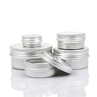 Wholesale container screws for sale - Group buy Empty Aluminum Cream Jar Tin Makeup Lip Balm Containers Screw Thread Nail Derocation Crafts Pot Bottle