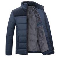abrigos de piel de cachemira de los hombres al por mayor-Tangcool 2018 hombres de marca de invierno capucha de piel de cabra con cachemira más el tamaño 4XL chaqueta de invierno abrigo de moda de alta calidad