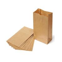 ingrosso involucro di carta marrone-10pcs Brown Kraft Paper Bag Party Bomboniere a mano Biscotti di pane fatti a mano Confezioni regalo Biscotti Confezionamento Confezionamento