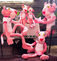 ingrosso rosa rosa pantera giocattolo-Pink Panther Peluche Giocattoli Leopard Peluche Peluche Bambole per bambini Regali di Natale Baby Kid Regalo di compleanno Novità GGA1207