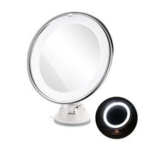 Wholesale magnifying lighted makeup mirror - LED Magnifying MIrrors 7X Magnifying Cosmetic Makeup Mirror With Power Locking Suction Cup Bright Diffused Light 360 Degree Rotating