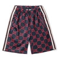 Wholesale pleated pants style - Designer Shorts Men Brand Short Pants Summer Style High Street Beach Shorts Luxury Brand Mens Leisure Underwear Loose Fashion Sports Shorts