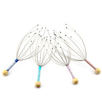 Wholesale head massager for sale - 100pcs Stainless Steel Head Hair Held Scalp Neck Equipment Stress Release Relax Massager Levert good quality in stock