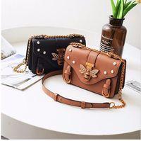 Wholesale genuine leather handbags for women - Brand Bag Women Messenger Bags Little bee Handbags crossbody bags for Women Shoulder Bags Designer Handbags with pearl 647