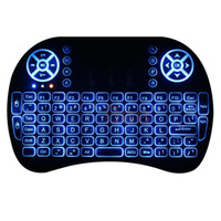 Wholesale Tv Box Tablet - Mini Wireless Keyboard with LED Backlit Air Mouse Remote Control Touchpad Rii i8 2.4GHz For Android TV Box Tablet PC