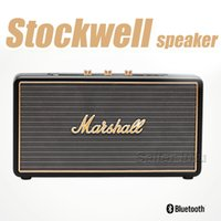 Wholesale Flip Speakers - Marshall Stockwell Portable Bluetooth Speaker With Flip Cover Case AAA Quality With US AU EU Adapter New Black Speakers With Retail Box