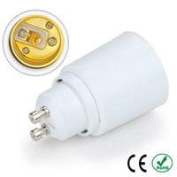 ingrosso adattatore e27 ad alogeni-2 pz GU10 a E27 E26 portalampada lampadina presa adattatore a prova di fuoco materiale alogeno Edison adattatore convertitore di luce a LED