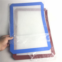 Wholesale glass tale - Red Blue Silicone Mat with 42cm x 29cm XXL Non-Stick Silicone Wax Oil Dab Dinng Tale Baking Mats for Glass Smoking Water Pipes