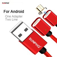 Wholesale magnetic adapters - SUNPHG Magnetic Charging Cable For Android Adapter Nylon Cord Fast Charge Phone Magnet Micro USB Charger Line For Samsung