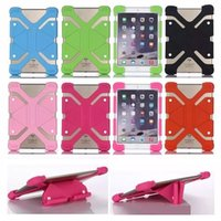 Wholesale heavy duty tablet cover resale online - Universal Soft Silicone Tablet Stand Phone Case Heavy Duty Shockproof Protective Case Cover For Ipad mini Ipad Pro inch