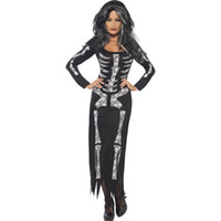 985289e2aa9 Halloween costumes Ghost Festival black horror skeleton jumpsuit round neck  ghost dress party performance cosplay costume