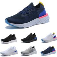 newest collection da0c3 18bf8 Nike Epic React Flyknit 2018 Top Quality New Ten Colors Epic React Mujeres  Hombres zapatos causales Moda Instantánea Go Fly Transpirable Cómodo  Deportes ...